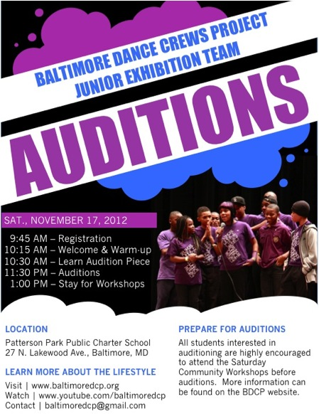 BDCP Fall Auditions